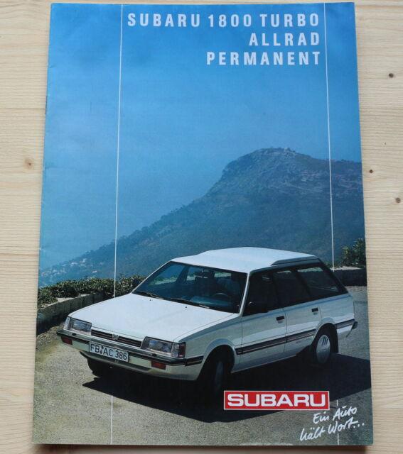 SUBARU ..... Prospekt ..... 1800 Turbo - Allrad ..... Permanent ..... Rar
