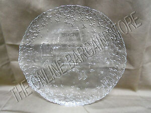 Christmas Holiday Kitchen Dining Room Table Glass Etched ...