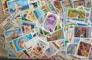Grenada-Grenadinen-Briefmarken-350-verschiedene-Marken