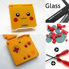 New Yellow Pokemon/Pikachu Nintendo Game Boy Advance SP GBA Case/Shell/Housing