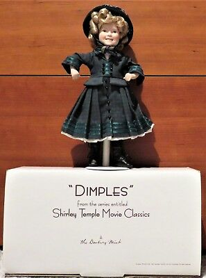 Dimples Porcelain Doll From the Shirley Temple Movie Classics By Danbury Mint