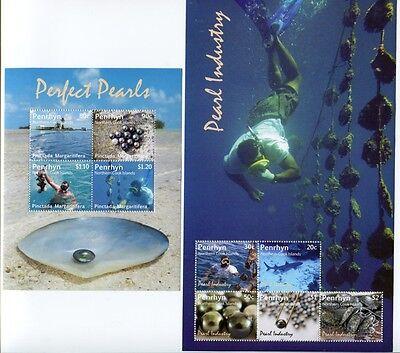 PENRHYN 2011 Perlen Pearl Diving Perlentaucher Muscheln Shells ** MNH