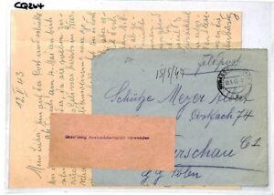 Pratique Cq264 Allemagne * Strassburg * 1943 Couverture Et Le Contenu