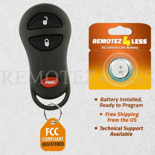 Keyless Entry Remote for 1999 2000 2001 Jeep Cherokee Car Key Fob Control
