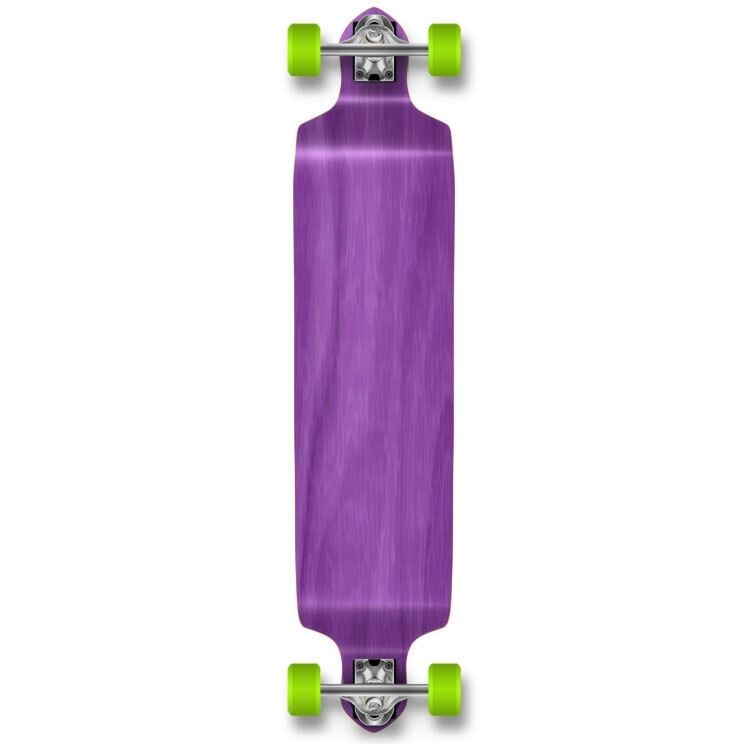Yocaher Drop Down Blank Longboard Complete - Stained Purple