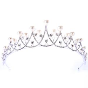 Bridal-Princess-Rhinestone-Crystal-Pearl-Wedding-Hair-Tiara-Crown-Prom-Headband