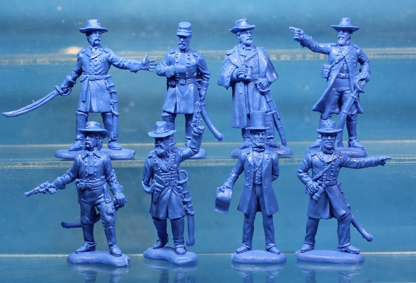 Plastic Toy Soldiers American Civil War Union General Staff 1 32 54 mm