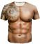 New-Fashion-Cool-Women-Men-Funny-Muscle-Print-3D-T-Shirt-Casual-Short-Sleeve-Tee thumbnail 15