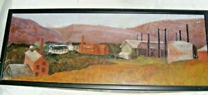 VINTAGE-OIL-PAINTING-ON-BOARD-BY-DEWI-HERBERT-WELSH-ARTIST-WELSH-LANDSCAPE