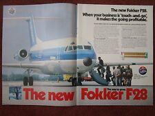7/1982 PUB FOKKER F28 NLM CITYHOPPER EINDHOVEN AIRLINER AIRCRAFT ORIGINAL AD