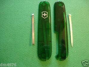 New Swiss Army Victorinox 91mm Emerald Plus Scales W