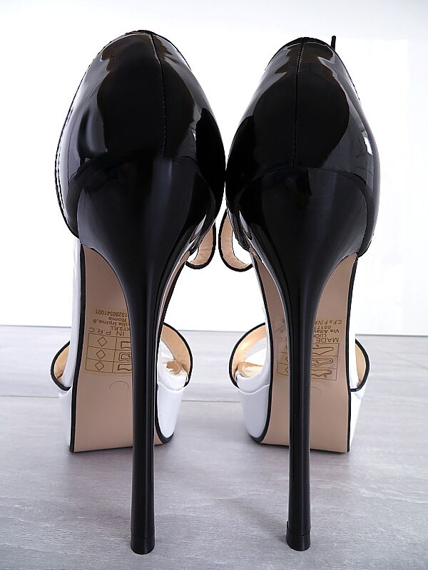 2018 Schuhe HOHE LACK Plateau Damen Sexy Q72 Sandalen Pumps Schuhe 2018 High Heels Weiß 35 8dbecb