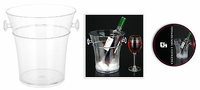 Crystal Clear Acrylic Ice Bucket Wine Cooler Champagne Cooler