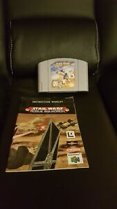 Star Wars Rogue Squadron Nintendo 64 N64 Authentic Genuine Game With Manual