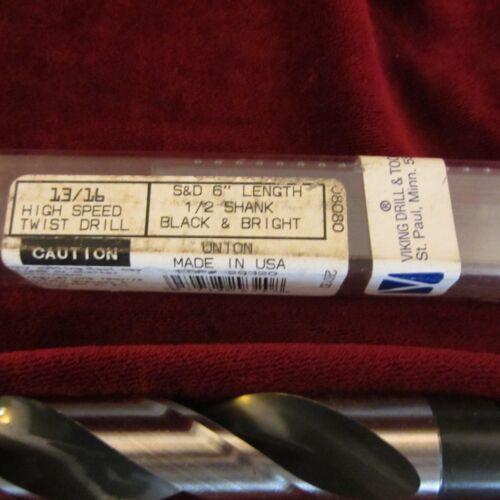 "13//16/"" X 1//2 Shank Viking-29320 USA High Speed Twist Drill Bit Made in USA"