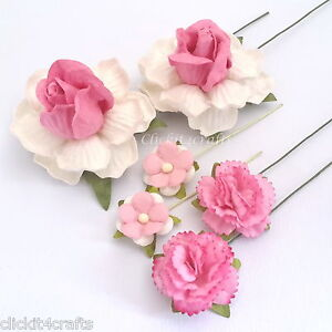 50 pink carnation roses mulberry paper flowers wedding gift image is loading 50 pink carnation roses mulberry paper flowers wedding mightylinksfo