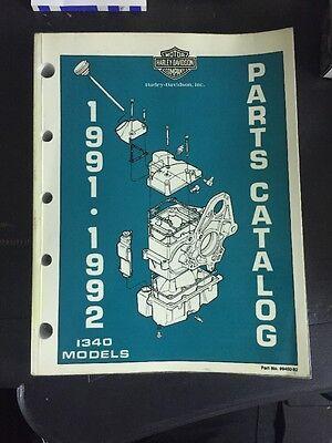 harley davidson Parts Catalog 1991 . 1992 1340 Models En Anglais