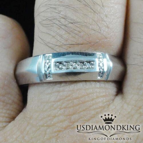 Designer Men/'s Ladies .05Ct Genuine Real Diamond Wedding Bridal Trio Rings Set