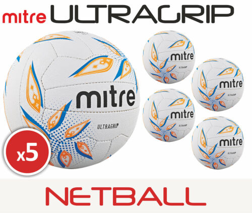 5 x Mitre Ultragrip Netball MatchTraining Sizes 45 Brand New