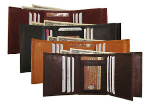 AG-Wallets-MENS-Trifold-Wallet-2-ID-9-Card-Holder-Premium-Cowhide-Leather