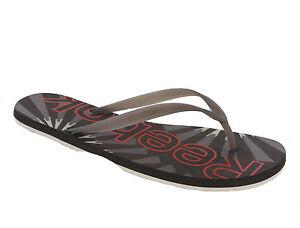 dc57f4356d53 Details about Reebok Hanawi Brown Slide Flip Flops Comfort Beach Sandals  Mens UK7-11