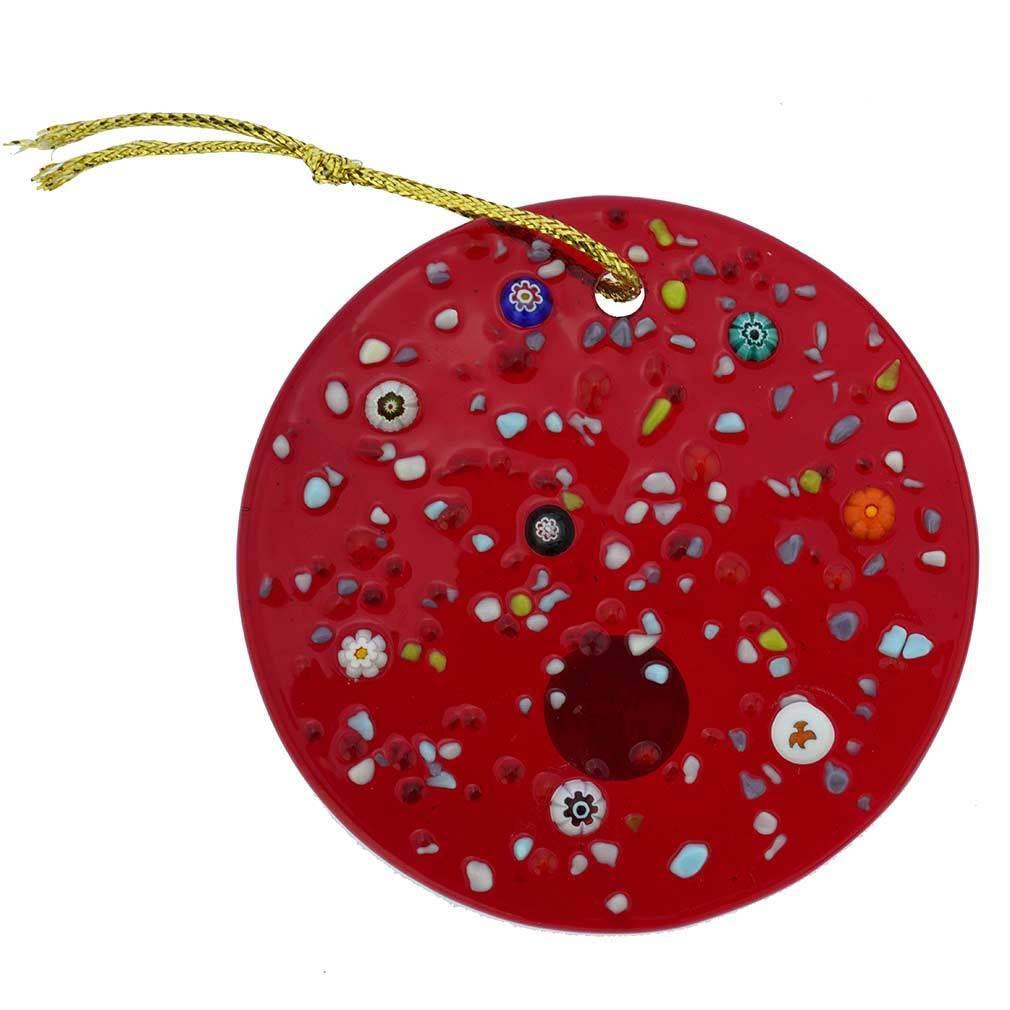 GlassOfVenice Murano Glass Christmas Tree Ornament Red