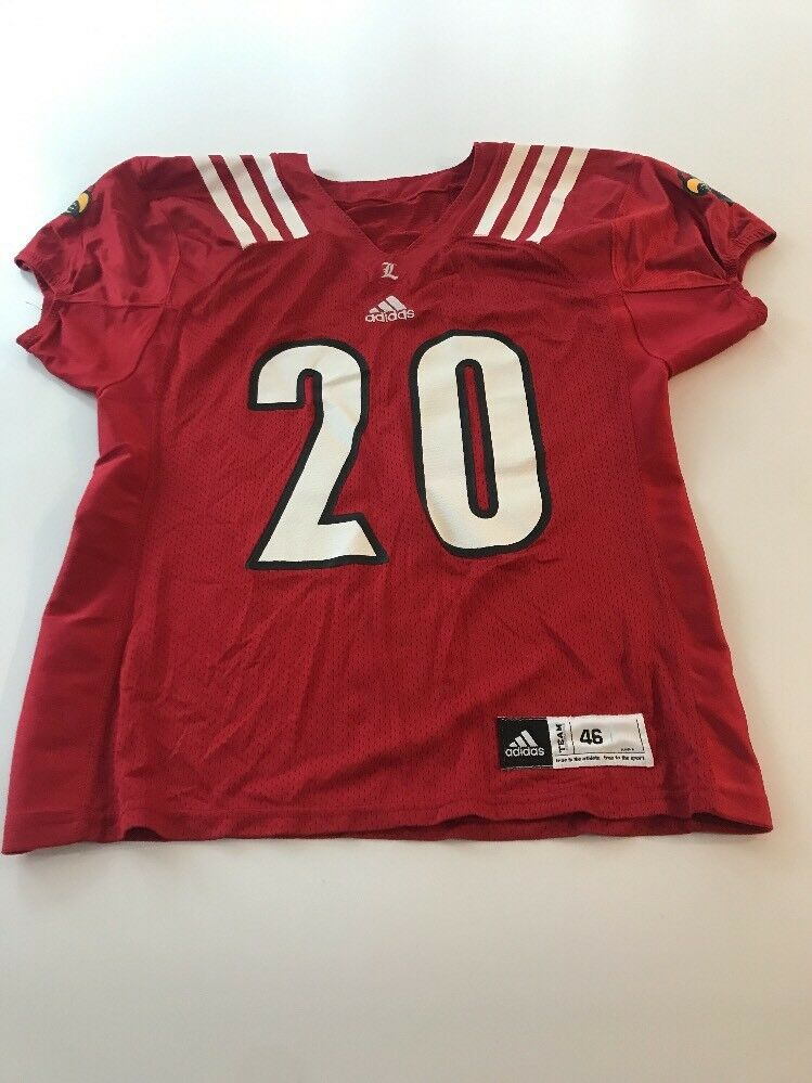 sale retailer 3a320 230a6 Game Game Game Worn Used Louisville Cardinals UL Football Jersey Adidas  Size 46 93ad19