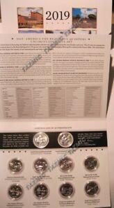 2019-P-amp-D-US-Mint-America-the-Beautiful-Uncirculated-10-Coin-Quarter-Set-19AA