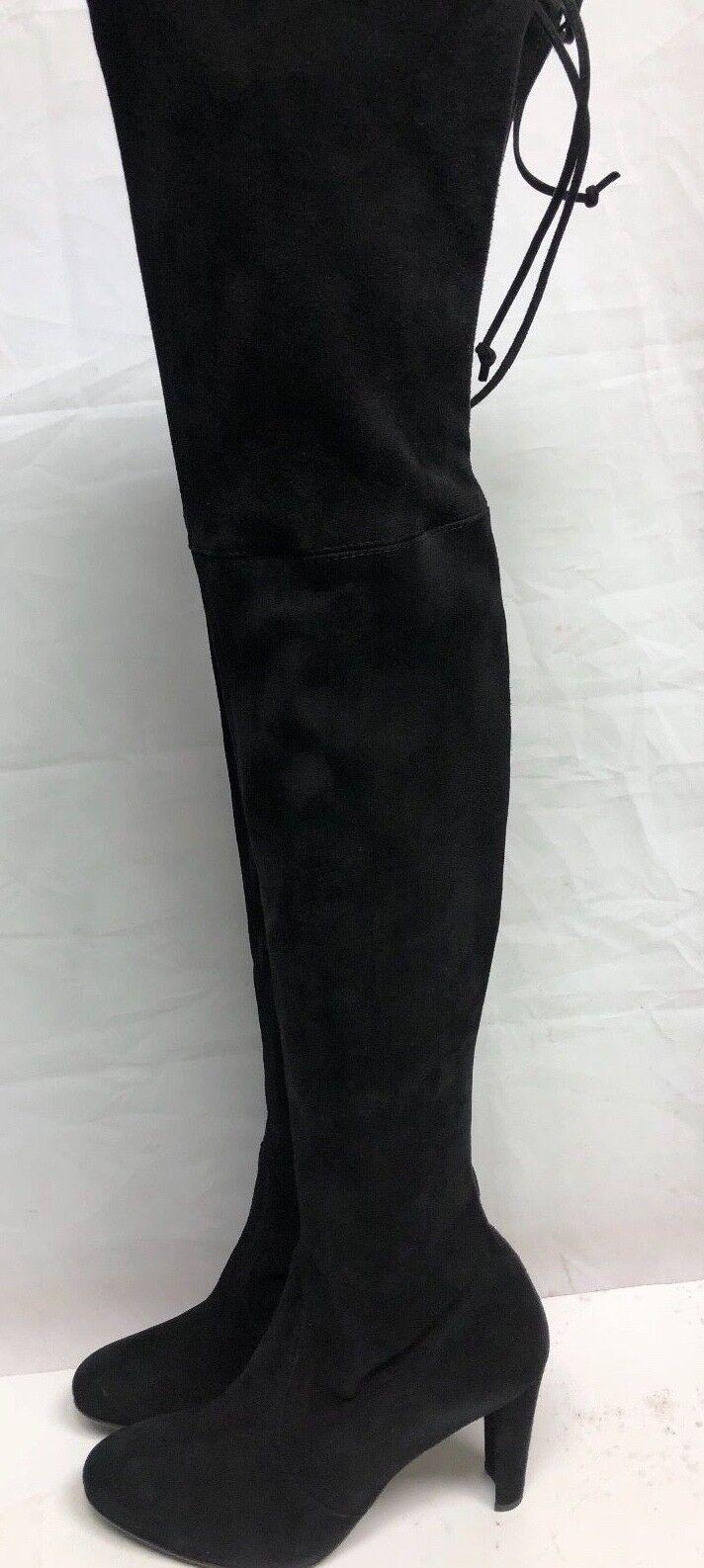 spedizione gratuita in tutto il mondo Stuart Weitzman nero Stretchy Suede Thigh Thigh Thigh high stivali 8 M  all'ingrosso economico e di alta qualità