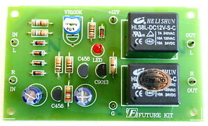 stereo speaker protection circuit board with delay on 1 2s 12v dc rh ebay com
