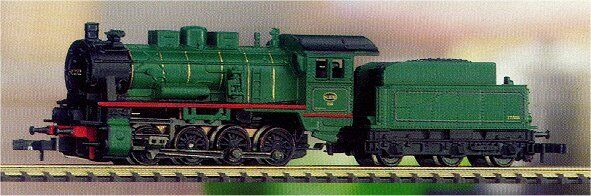 88983 Marklin Z SNCB Belgian Steamloco wTender Class 81 Metal w/5 Pole motor