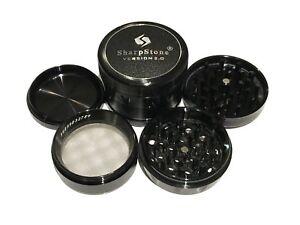 SharpStone-2-5-034-Inch-Version-2-0-Hard-Top-Herb-Spice-Large-Black-Grinder-EXTRAS