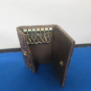 bd1b519c27aa Vintage Fendi Key Holder 6 Key Wallet Holder Brown Leather (D8)