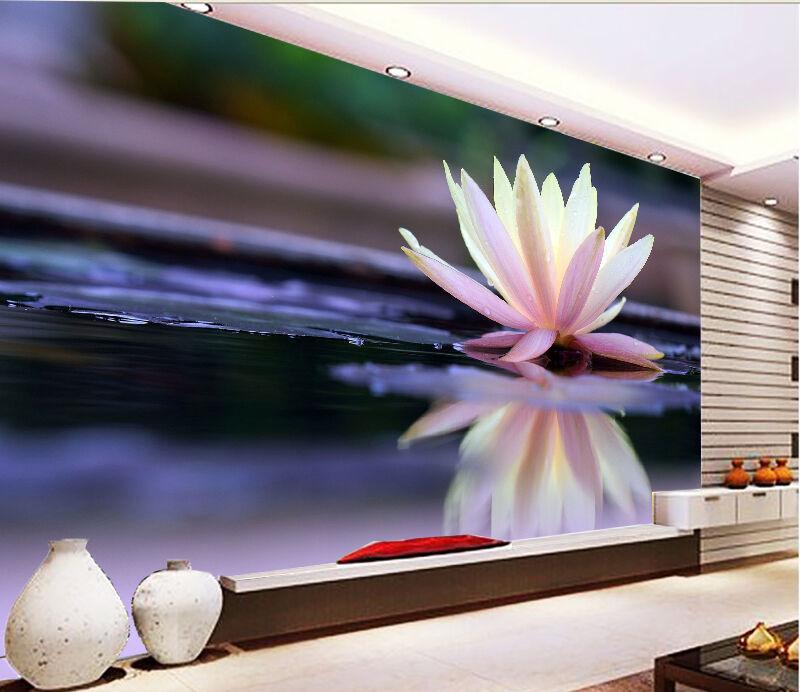 3D Water Lilies 1124 WallPaper Murals Wall Print Decal Wall Deco AJ WALLPAPER