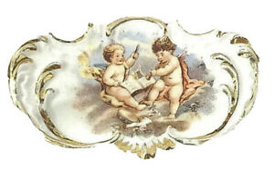 Gorgeous-Vintage-Rare-Porcelain-Cherub-Shabby-Chic-7-034-inches-Plate-Dish