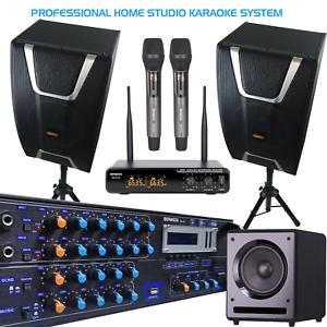 SONKEN HOME KARAOKE STUDIO PACKAGE DEAL (KA-12 AMP/CS-800 SPK/SUB/WIRELESS MICS