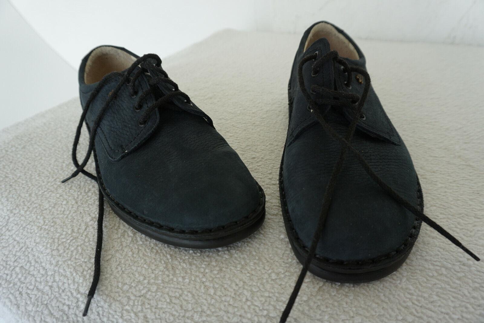 Finn Comfort Colmar Chaussures Femmes à Lacets Gr.5 38 Marine Cuir Nubuck Neuf