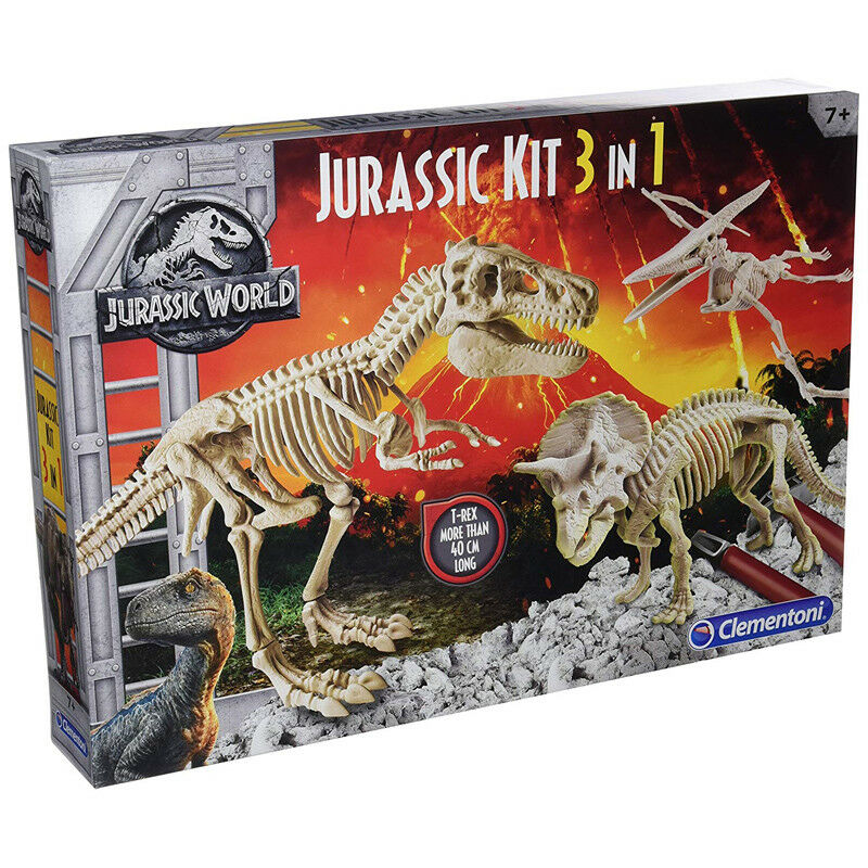 Clementoni Jurassic World 3-in1 Jurassic Kit - 19062 - NEW
