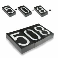 Led Solar Powered House Address Number Digits Street Road Door Plate Wall Light