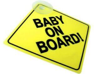 Enfant à bord de sécurité enfant ventouses Voiture Signes Enfant à bord neuf