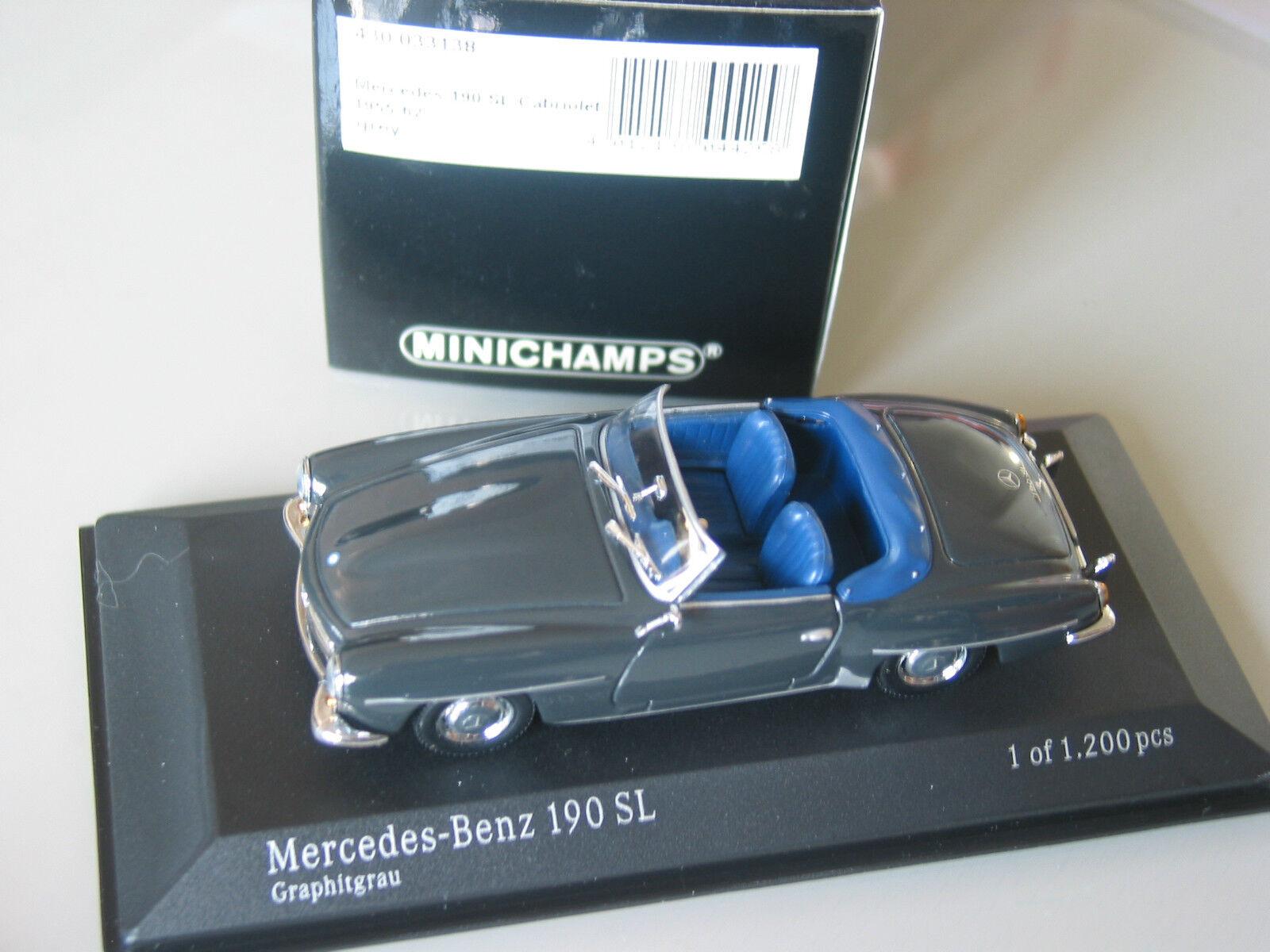 Mercedes W121  GREY  190SL  ROADSTER   1 43 Minichamps VERY RARE
