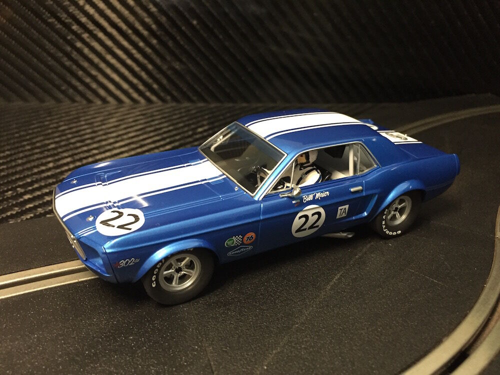 PIONEER SLOT CAR NEW UNBOXED 1968 TRANS-AM MUSTANG 'BILL MAIER' - SCALEXTRIC DPR