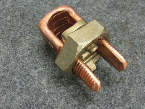 R-500 T-500-2//0 NEW 2//0 COPPER SPLIT BOLT WIRE CONNECTOR GROUND CLAMP
