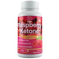 Wild Raspberry Ketone   60 Capsules   Detox Weight Loss & Slimming