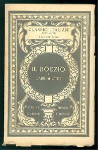 IL-BOEZIO-L-039-ARRIGHETTO-NELLE-VERSIONI-DEL-TRECENTO-UTET-1929-CLASSICI-ITALIANI
