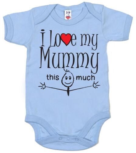 "Lustig Baby Body /"" I Love My Tannte Uncle Mummy Daddy Oma Opa /"" Strampler"