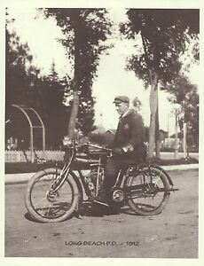 Image Is Loading Long Beach Ca Police Dept 1912 Indian Motorcycle