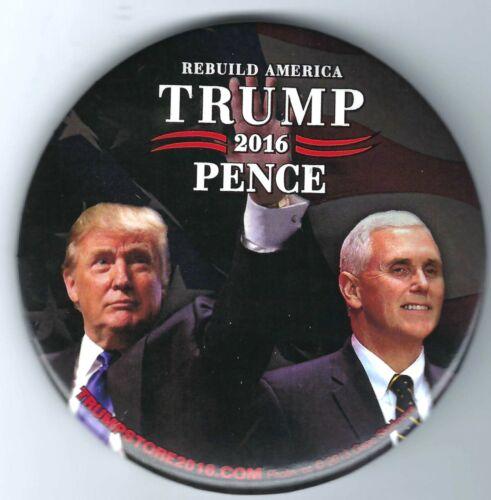 "2016 Trump /& Pence President Campaign 3/"" Button!"