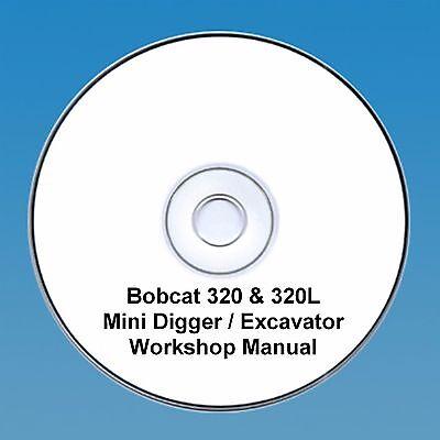 Conscientious Bobcat 320 & 320l Mini Pelle Manuel Atelier Agriculture Manuels, Revues, Catalogues