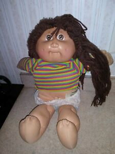 1985 Appalacian CABBAGE PATCH DOLL Long Brown Hair Brown Eyes Dimples Paperwork